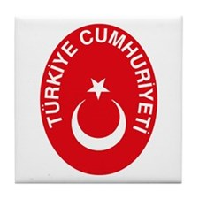 Turkey Coat of Arms Tile Coaster