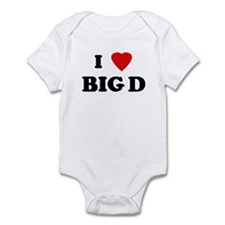 I Love BIG D Infant Bodysuit