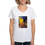 Cafe / Choc. Lab #11 Women's V-Neck T-Shirt