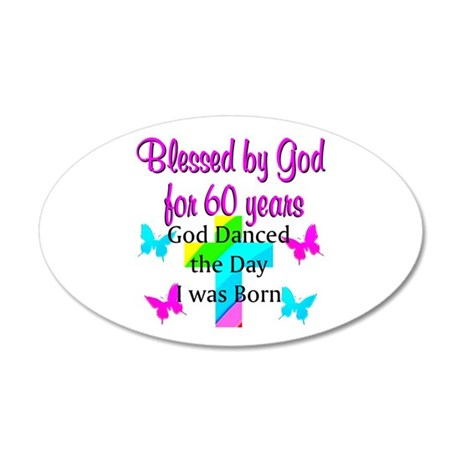 CHRISTIAN 60TH 20x12 Oval Wall Decal