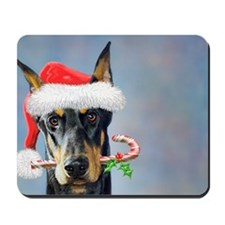 Doberman Christmas Mousepad