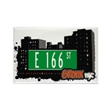 E 166 St, Bronx, NYC Rectangle Magnet (10 pack)