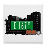E 167 St, Bronx, NYC Tile Coaster