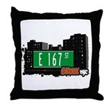 E 167 St, Bronx, NYC Throw Pillow