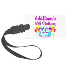 AWESOME 60TH Luggage Tag