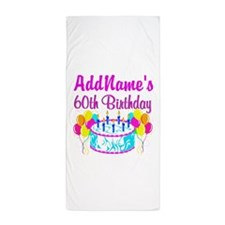 AWESOME 60TH Beach Towel