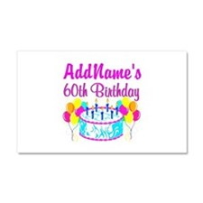 AWESOME 60TH Car Magnet 20 x 12