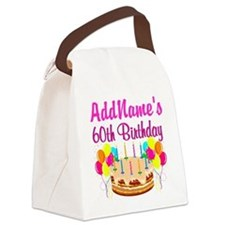 AMAZING 60TH Canvas Lunch Bag