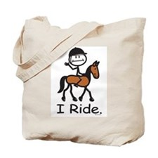 English Horse Riding Tote Bag
