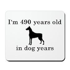 70 birthday dog years doberman 2 Mousepad