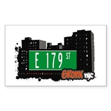 E 179 St, Bronx, NYC Rectangle Decal