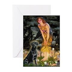 Fairies & Black Lab Greeting Cards (Pk of 10)