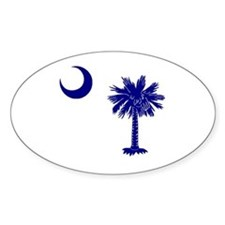 Palmetto and Crescent Oval Decal