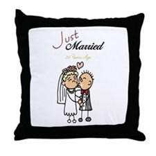Just Married 50 years ago Throw Pillow