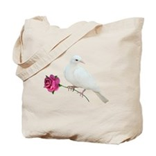 Dove Rose Tote Bag