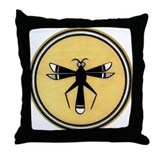 MIMBRES DRAGONFLY BOWL DESIGN Throw Pillow