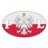 Poland Decal-v1 Oval Decal