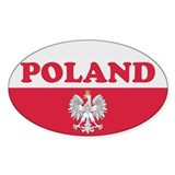 Poland Decal-v2 Oval Decal