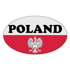 Poland Stickers-v3 Oval Stickers