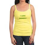 I Love Mommy (green) Jr. Spaghetti Tank