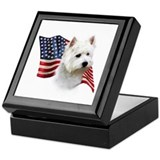 Westie Flag Keepsake Box