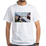 CREATION / Black Lab (#2) White T-Shirt