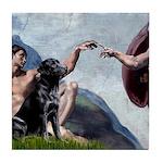 CREATION / Black Lab (#2) Tile Coaster