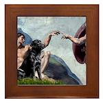 CREATION / Black Lab (#2) Framed Tile