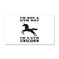 Im Not A Gym Rat Im A Gym Unicorn Car Magnet 20 x