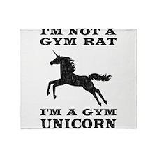 Im Not A Gym Rat Im A Gym Unicorn Throw Blanket