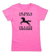 Im Not A Gym Rat Im A Gym Unicorn Girl's Tee