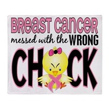 - Breast Cancer Messed With Wrong Ch Throw Blanket