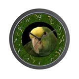 Double Yellow Headed Amazon Clock