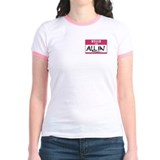 Hello, I'm All In Poker Ringer T-shirt