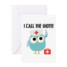 Owl Nurse Greeting Card