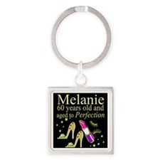 SPARKLING 60TH Square Keychain