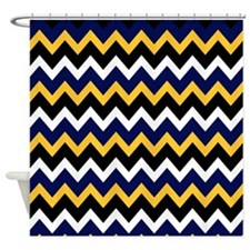 Navy And White Chevron Shower Curtains Navy And White Chevron Fabric Shower