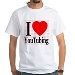 I Love YouTubing White T-Shirt