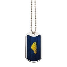Wooden Oregon Flag1 Dog Tags