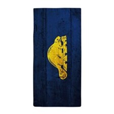 Wooden Oregon Flag1 Beach Towel