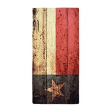 Wooden Texas Flag1 Beach Towel