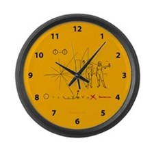 Pioneer 10 Plaque v3 Large Wall Clock
