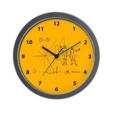 Pioneer 10 Plaque V3 Wall Clock