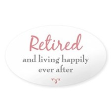 Retirement / Senior Oval Decal