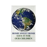 Home Sweet Home Earth Rectangle Magnet (100 p