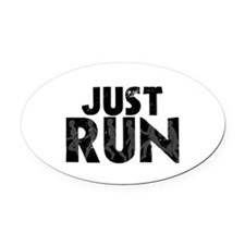 Just Run Oval Car Magnet