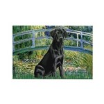 Bridge & Black Lab Rectangle Magnet (10 pack)