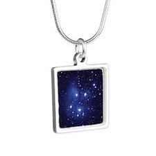 Pleaides  Silver Square Necklace