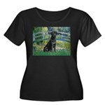 Bridge & Black Lab Women's Plus Size Scoop Neck Da