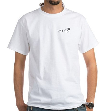 Faraday's Law of Induction White T-Shirt
